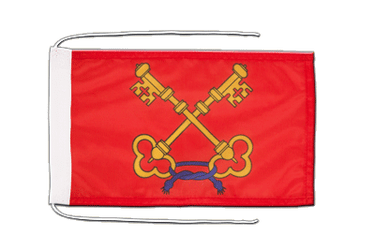 Comtat Venessin Flag with ropes 8x12""