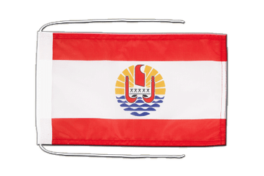 French Polynesia - Flag with ropes 8x12""
