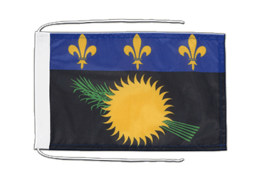 Guadeloupe Flag with ropes 8x12""