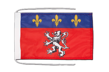 Lyon Flag with ropes 8x12""