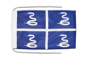 Martinique Flag with ropes 8x12""