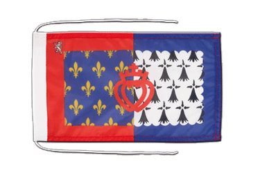 Pay de la Loire Flag with ropes 8x12""