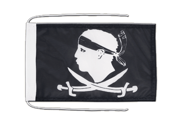 Pirate Corsica - Flag with ropes 8x12""
