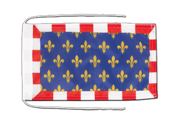 Touraine Flag with ropes 8x12""