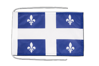 Quebec Flag with ropes 8x12""
