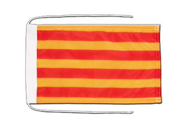 Catalonia Flag with ropes 8x12""