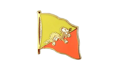 Bhutan - Flag Lapel Pin