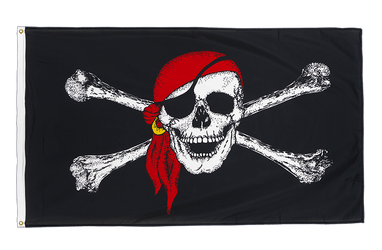 Pirate with bandana Premium Flag 3x5 ft CV