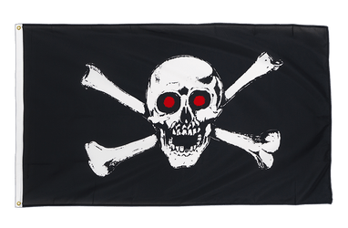 Pirate with red eyes Premium Flag 3x5 ft CV