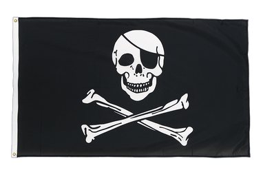 Pirate Skull and Bones Premium Flag 3x5 ft CV
