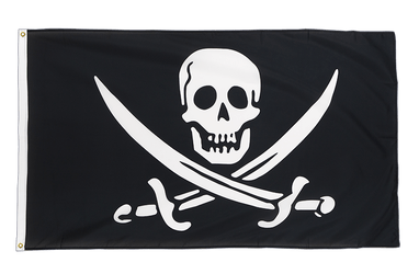 Pirate with two swords Premium Flag 3x5 ft CV