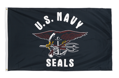 USA Navy Seals Premium Flag 3x5 ft CV
