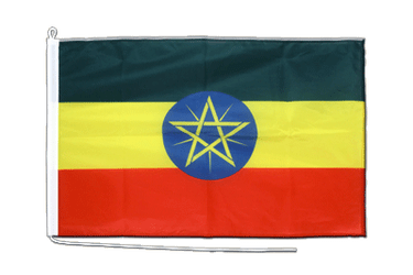 Ethiopia with star Boat Flag PRO 2x3 ft