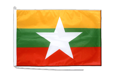 Myanmar new Boat Flag PRO 2x3 ft