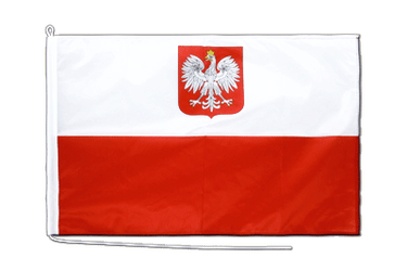 Poland with eagle Boat Flag PRO 2x3 ft