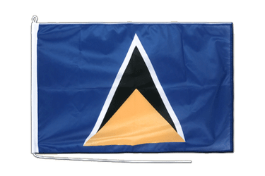St. Lucia Bootsflagge PRO 60 x 90 cm