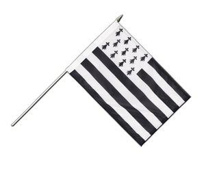 Brittany Hand Waving Flag 12x18""