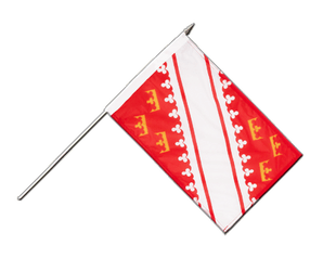Alsace Hand Waving Flag 12x18""