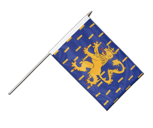 French Comte Hand Waving Flag 12x18""