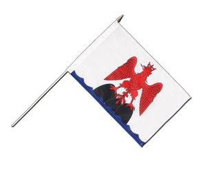County of Nice - Hand Waving Flag 12x18""