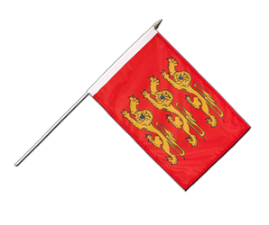 Upper Normandy Hand Waving Flag 12x18""