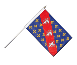 County of La Marche Hand Waving Flag 12x18""