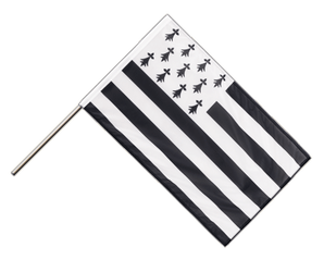 Brittany Hand Waving Flag PRO 2x3 ft