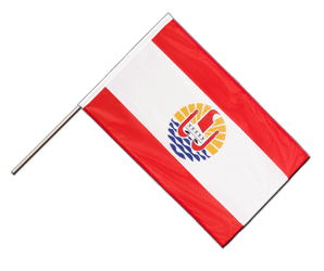 French Polynesia - Hand Waving Flag PRO 2x3 ft