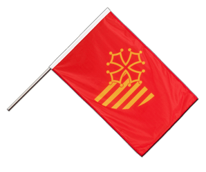 Languedoc-Rousillon - Hand Waving Flag PRO 2x3 ft