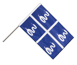 Martinique Hand Waving Flag PRO 2x3 ft