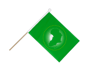 African Union AU Hand Waving Flag 6x9""