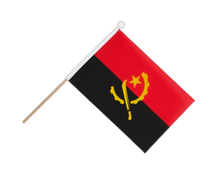 Angola Hand Waving Flag 6x9""