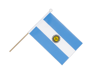 Argentina Hand Waving Flag 6x9""