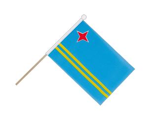 Aruba - Hand Waving Flag 6x9""