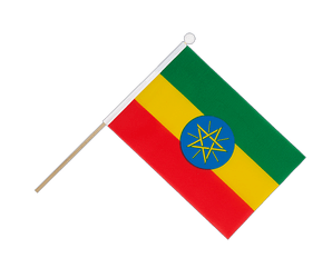 Ethiopia with star Hand Waving Flag 6x9""