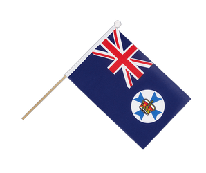 Queensland Hand Waving Flag 6x9""