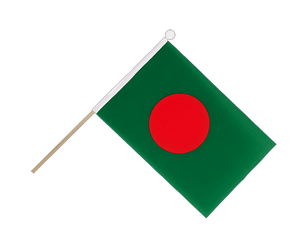 Bangladesh Hand Waving Flag 6x9""