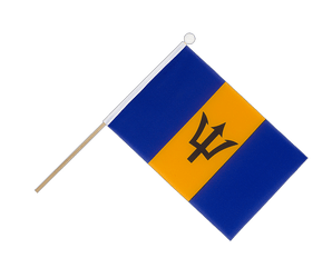 Barbados Hand Waving Flag 6x9""