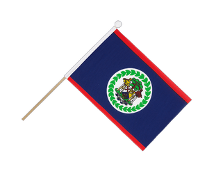 Belize Hand Waving Flag 6x9""