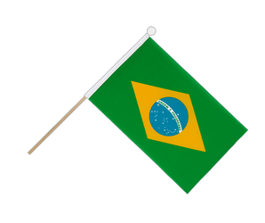 Brazil Hand Waving Flag 6x9""
