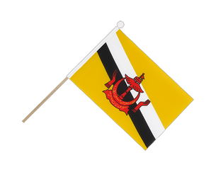 Brunei Hand Waving Flag 6x9""
