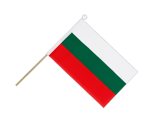 Bulgaria - Hand Waving Flag 6x9""