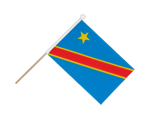 Democratic Republic of the Congo Hand Waving Flag 6x9""