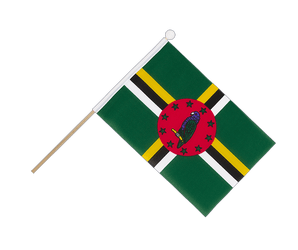 Dominica Hand Waving Flag 6x9""