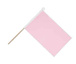 pink Hand Waving Flag 6x9""