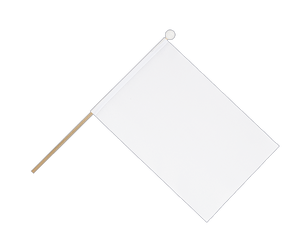 white - Hand Waving Flag 6x9""