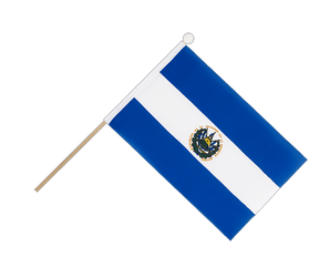 El Salvador Hand Waving Flag 6x9""