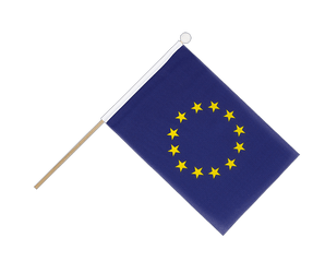 European Union EU Hand Waving Flag 6x9""
