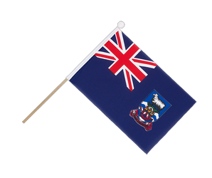 Falkland Islands - Hand Waving Flag 6x9""