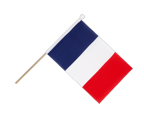 France Hand Waving Flag 6x9""